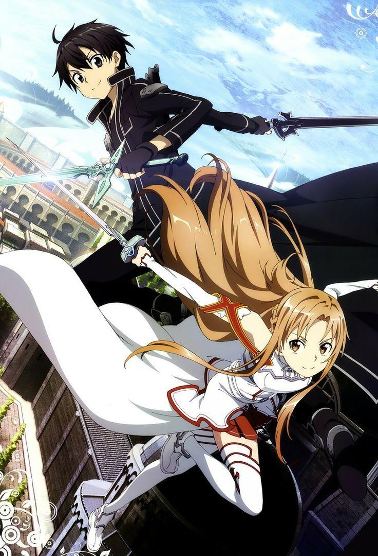 Sword Art Online Kirito y Asuna sword art online