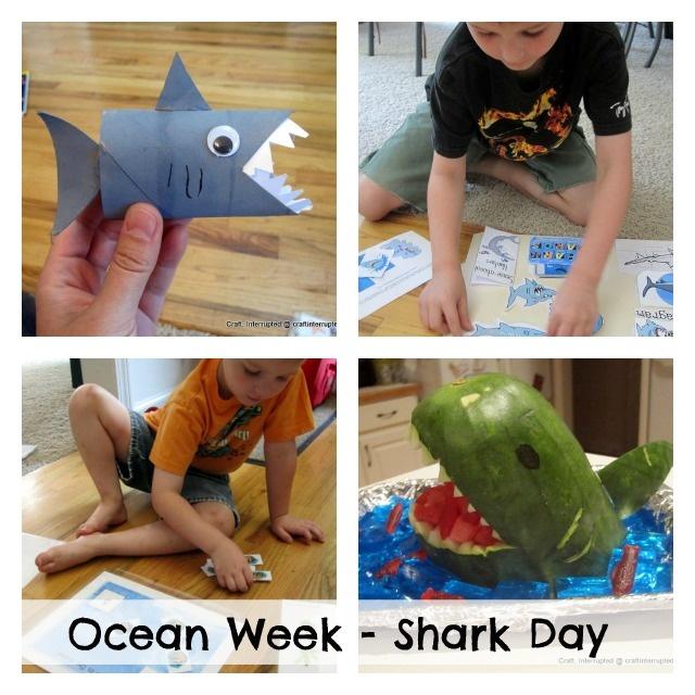 Craft, Interrupted: Funner School ~ Ocean Week: Shark Day