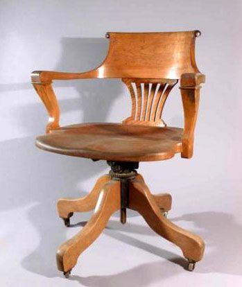 Ford johnson company fauteuil de bureau mobile pivotant for Fauteuil de bureau en bois pivotant