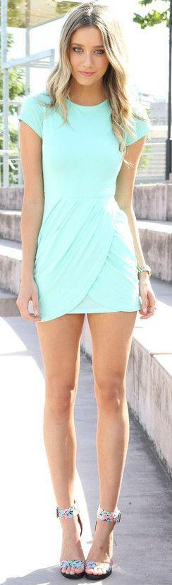 """""""mint summer dress"""""""