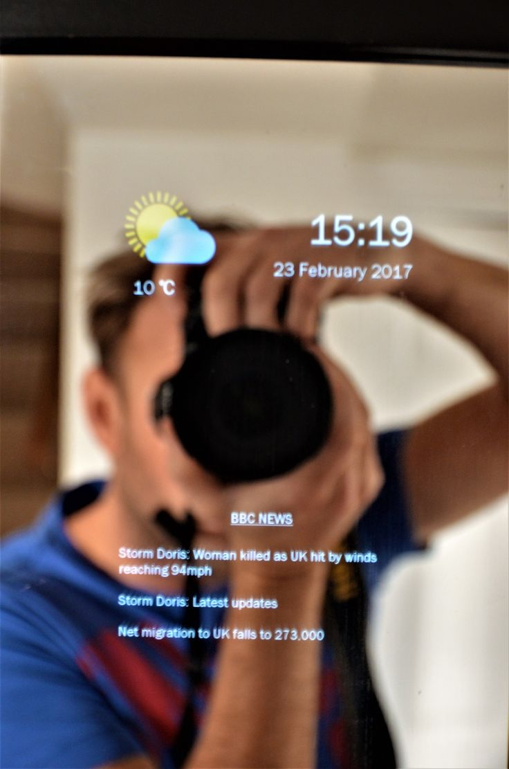 Smart Mirror Sale - Android Based Smart Mirror , Display Tube Status, Train Information, Road Traffic, Google Calendar, Weather, Date and Time  - MySmartMirror the smartest Smart Mirror of them all