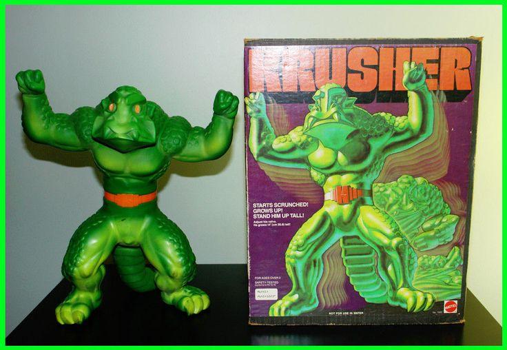Vintage 70s Krusher Mattel Growing Monster Toy Doll