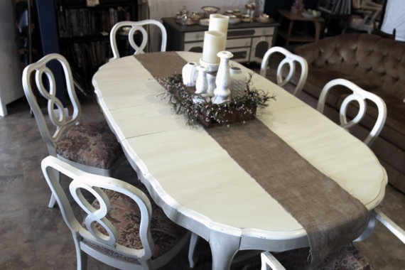 Queen Anne Dining Table Hand Painted French By