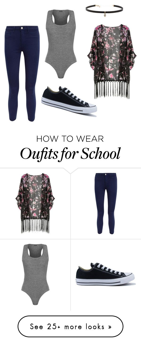 """Literally what I'm gunna wear tomorrow for school"" by diazgirl-1 on Polyvore featuring WearAll, L'Agence, Converse and Carbon & Hyde"