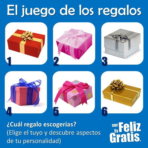 Imagina por un momento que debes elegir tan solo uno de estos seis regalos. El regalo que elijas tiene un significado en tu vida.  ...