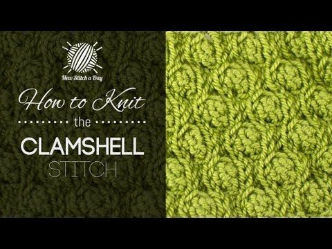 Basic Knitting Stitches Yarn Over : How to Knit the Clamshell Stitch. uses yarn over technique! Knitting Pint...