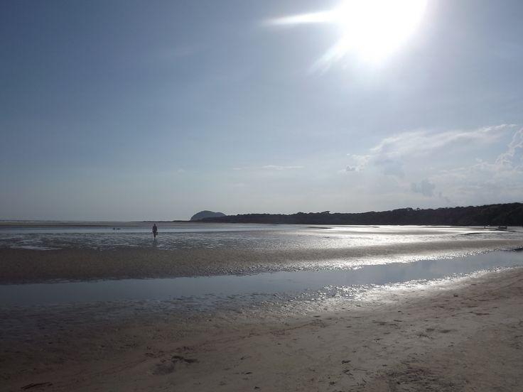 Praia de Itaguaré, encontro com Rio Itaguaré. 24/12/2015