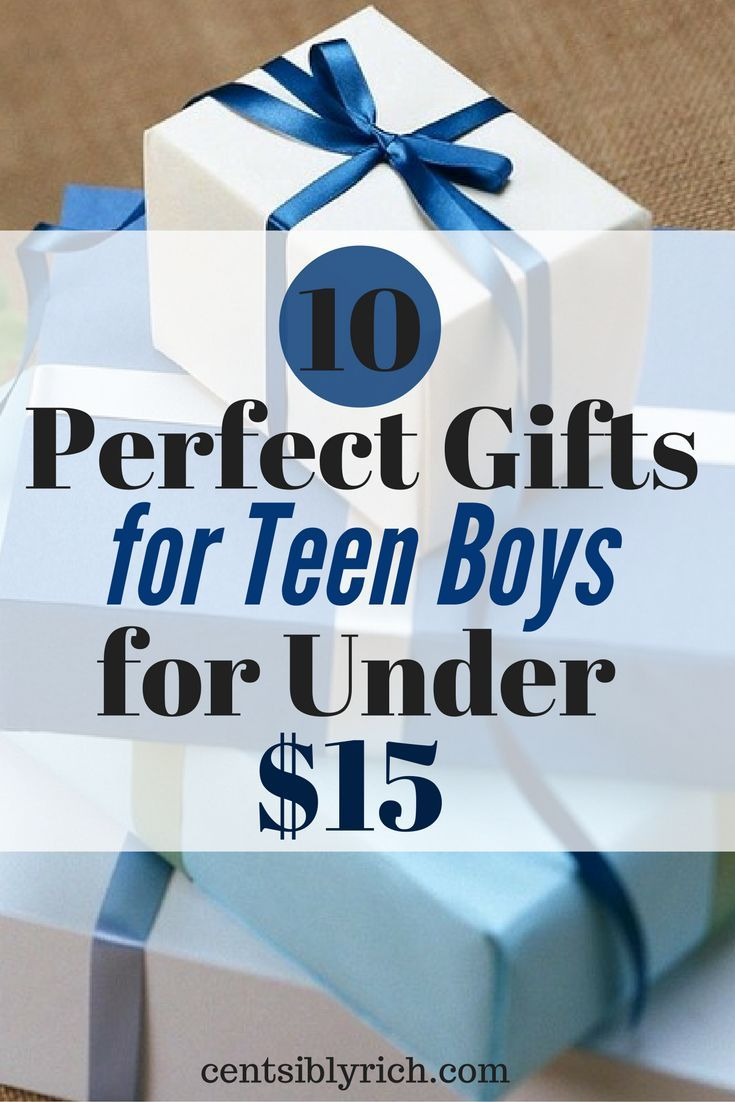 Teen boys can be hard to buy for, especially on a budget. Here are 10 perfect gift ideas for the teen boy in your life, for under $15 each!