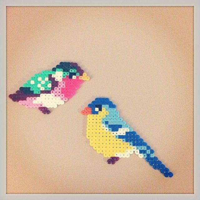 Birds hama perler beads by mette