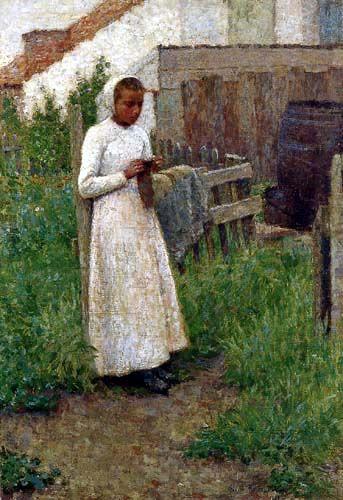 Henri Le Sidaner - A young Breton Girl, Étaples 1888