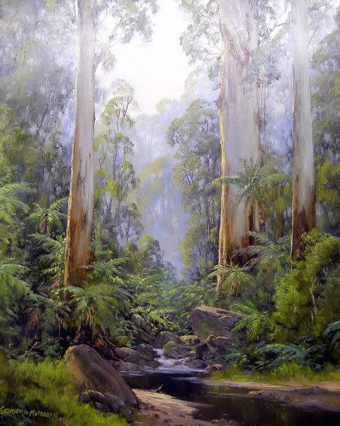 A stream in the forest - near Kallista by Gerard Mutsaers
