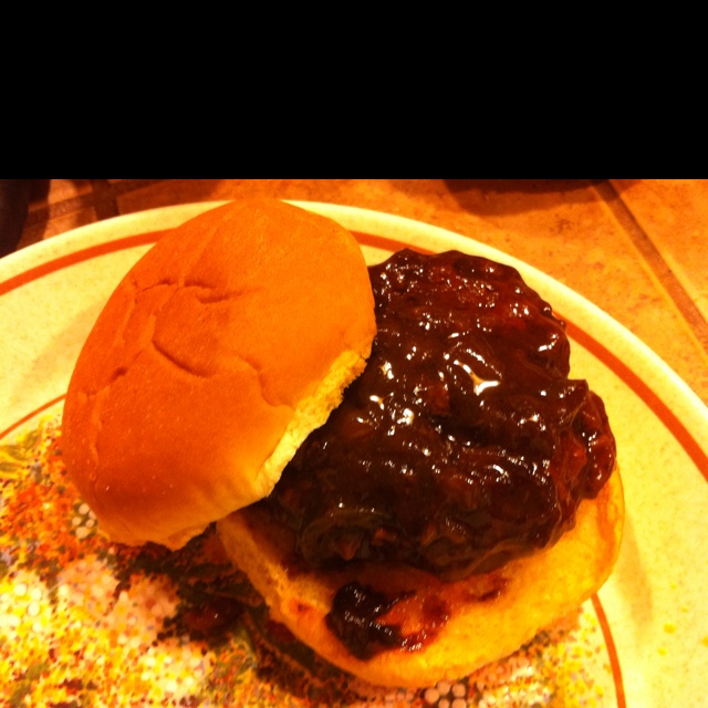 Spicy Whiskey BBQ Sliders. Just had for supper not bad. Not a everyday ...