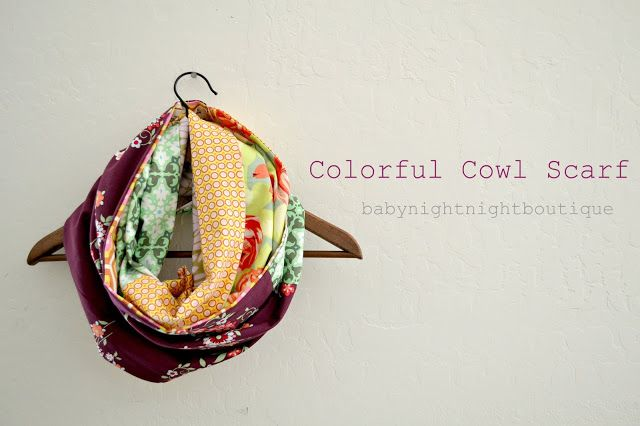 Bellapia Clothing Co.: Cowl Scarf- use up those fat quarters!