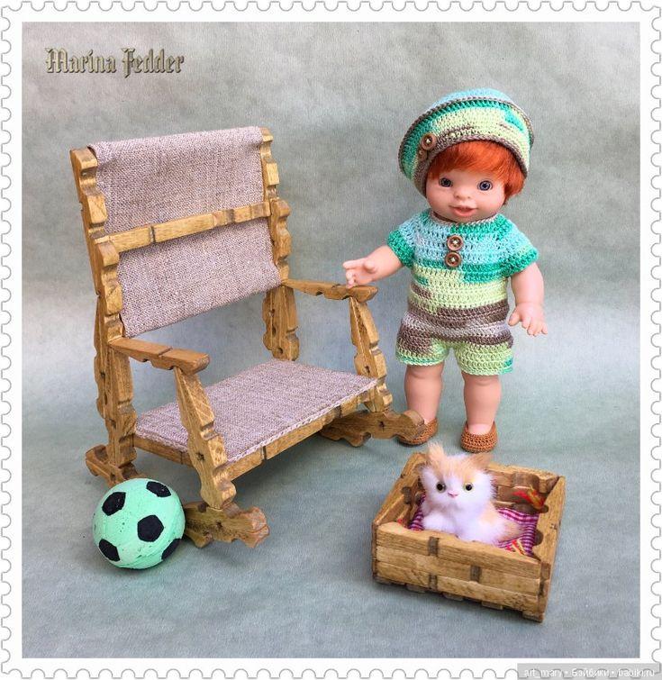 """""""Чьи в лесу шишки?"""" Мебельный гарнитур для пупсика Paola Reina / Кукольная мебель своими руками для кукольного домика / Бэйбики. Куклы фото. Одежда для кукол"""