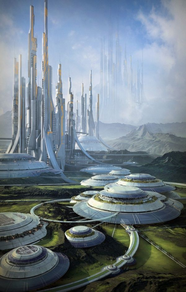 The 12th Colony 2321 - Stefan Morrell / future city / sci fi / utopia / urban paradise / digital art