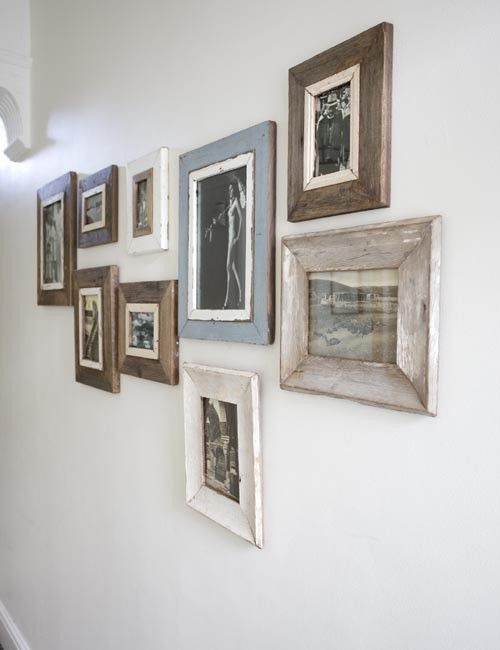 Wood Frame Wall best 25+ wood picture frames ideas on pinterest | pallet photo