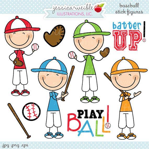 Conjunto de figuras de palo chicos de béisbol viene con 9 gráficos incluyendo: 4 muchachos en poses diferentes de béisbol, un bate de béisbol, un guante, béisbol y arte de la palabra dos: Batter para arriba! y jugar a la pelota!  Gráficos se crean en el software de imágenes vectoriales y se guardan en alta calidad de 300 dpi de resolución.  Tamaño de la imagen:  -Gráficos serán 7 pulgadas en su punto más alto o más amplio.  Formatos incluidos:  -Alta resolución JPG con fondo blanco  -Alta…