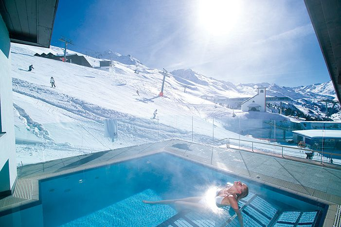 Top Hotel Hochgurgl. Hotel and restaurant in the mountains. Austria, Hochgurgl. #RelaisChateaux #Austria #Snow #Spa #Winter