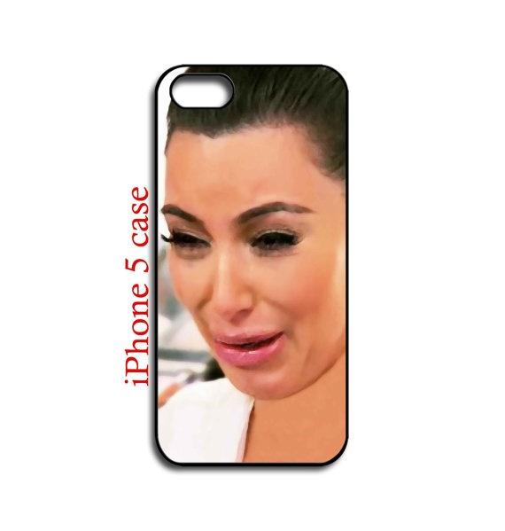iphone 5 case  Kim Kardashian Ugly Crying Face  by NewStyleDesign, $16.00