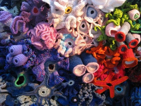 A Crocheted Coral Reef#colors