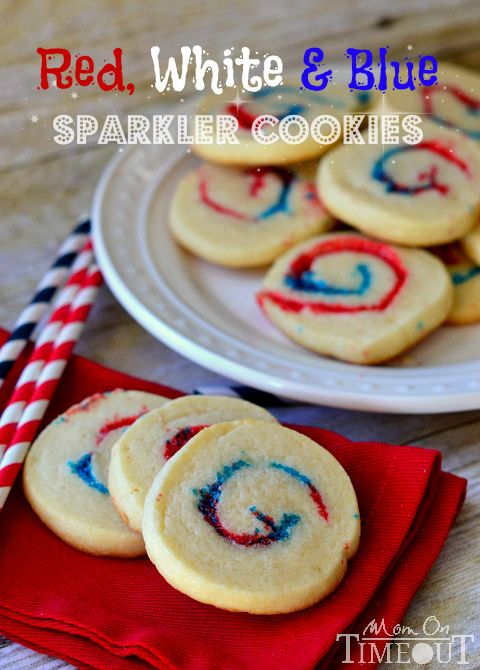 Red, White and Blue Sparkler Cookies