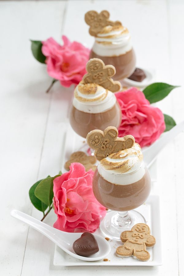 GODIVA Chocolate Parfait with Toasted Gingerbread Marshmallow Fluff ...