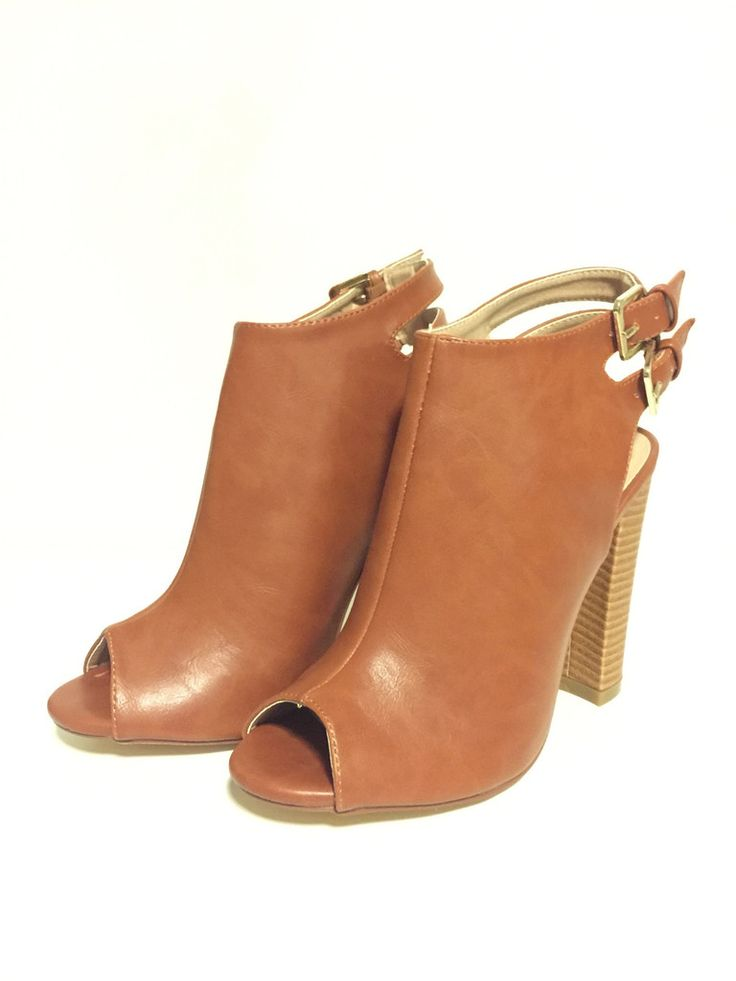 Jade Peep Toe Booties - Camel – Zelle Boutique