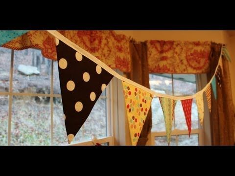 DIY Fabric Bunting - Whitney Sews    Really cool bunting with only 1 seam!