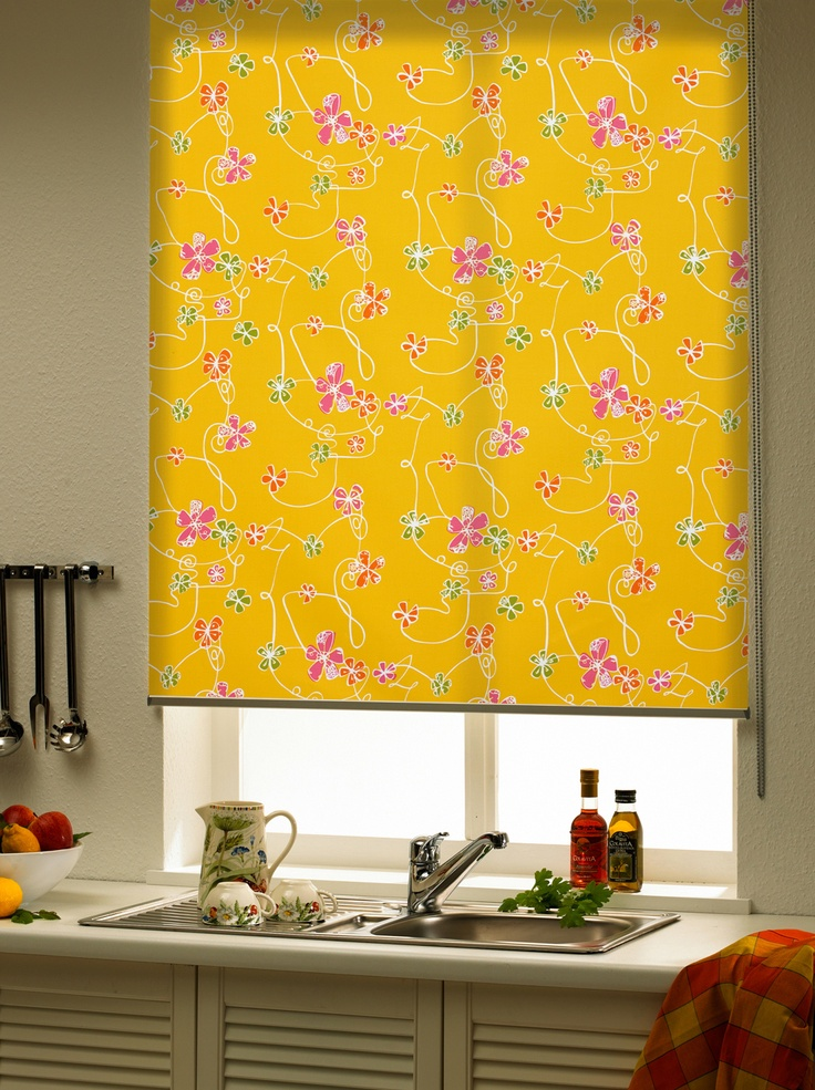 #floral #kicthen #blinds http://www.blindsuk.net/rollermm/presto-happy-orange.html