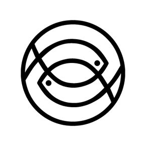 double fish logo -- this would be cool for a Pisces.