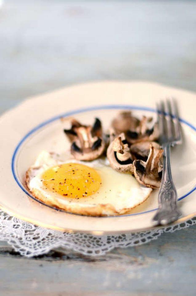 Stekt ägg med svamp 180 kcal