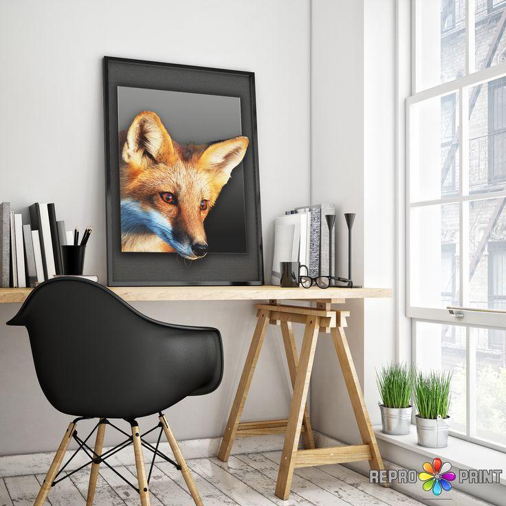 Fox Print, Woodlands Fox Wall Art, Nursery Decor, Nursery Animal Print, Printable Woodlands Fox Animal, Fox Photo, Instant Digital Download
