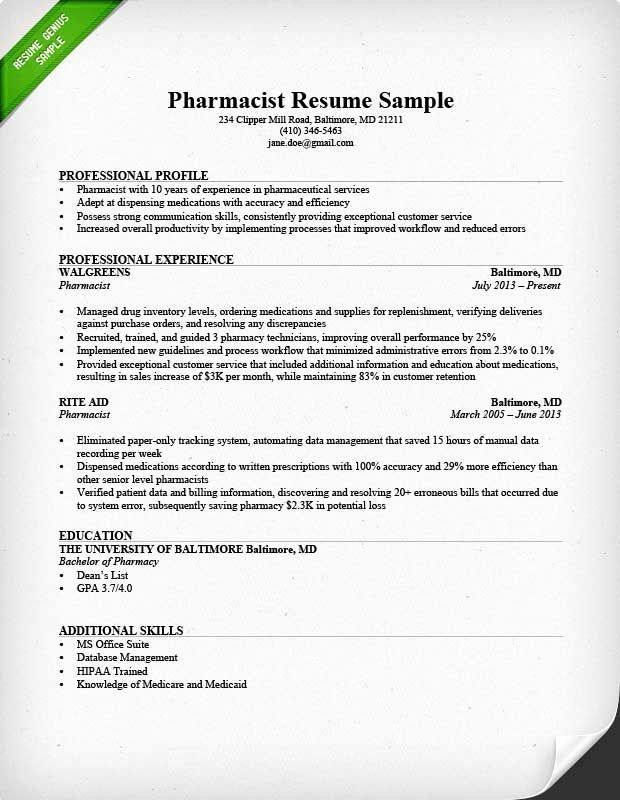 Pharmacy Technician Resume Example Elegant View A Professionally Written Pharmacist Resume Sample And Learn In 2020 Cover Letter For Resume Resume Skills Writing Tips
