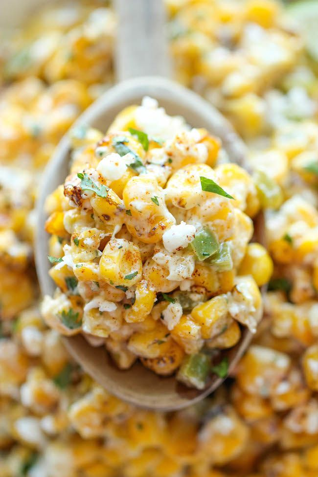 Mexican Corn Dip | The traditional Mexican street corn is turned into the best dip ever. It's so good, you won't even need the chips. Just grab a spoon and eat...