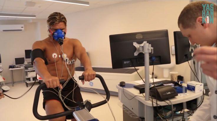 Russian bodybuilding athlete Dmitry Yashankin undergoing full metabolic evaluation (rest & exercise)