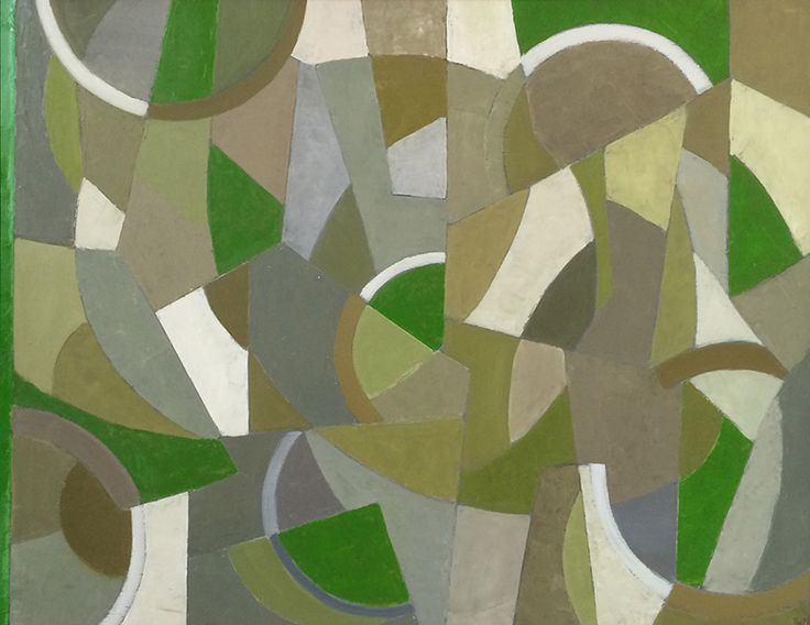 Tim Woolcock Abstract Painting Verdant Abstraction