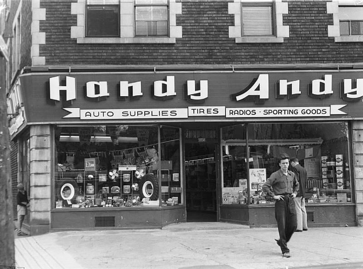 1949 magasin de pi ces de voiture handy andy de la rue sherbrooke ouest montreal my home. Black Bedroom Furniture Sets. Home Design Ideas