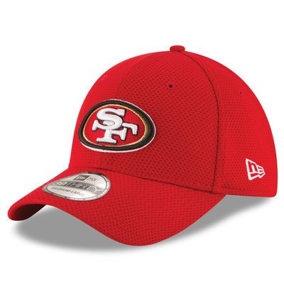 New Era San Francisco 49ers Scarlet Sideline Tech 39THIRTY Flex Hat