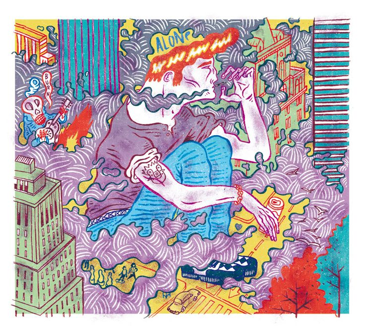 www.delhambre.com #illustration, #ilustracion, #delhambre, #books, #comics, #city, #smoke, #teddyboy, #prints, #oldschool