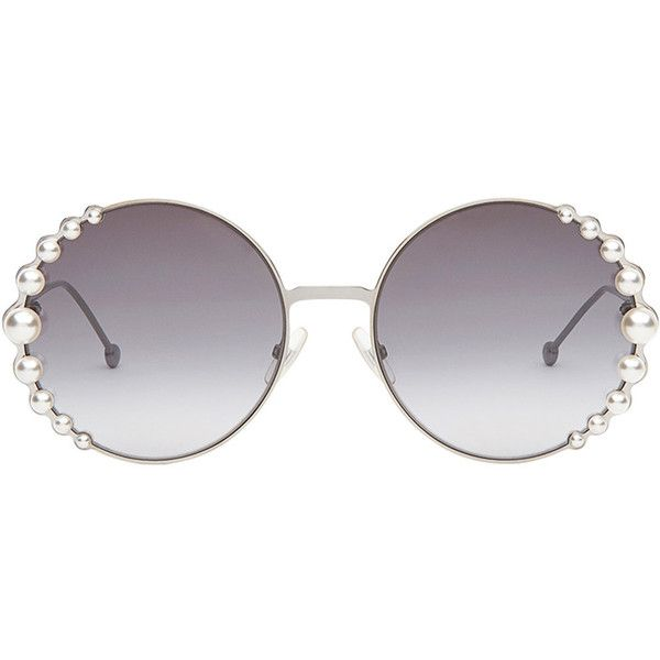 80b2d35df368d Fendi Ribbons and pearls sunglasses (€370) liked on .