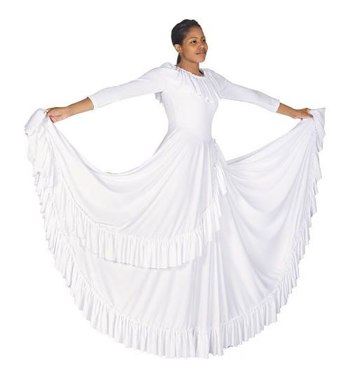 Depending on the show, this would be perfect! 13779 Adult Polyester Revelation Praise Dance Dress  $57.75