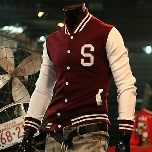 varsity jacket letter s red for men 67 off