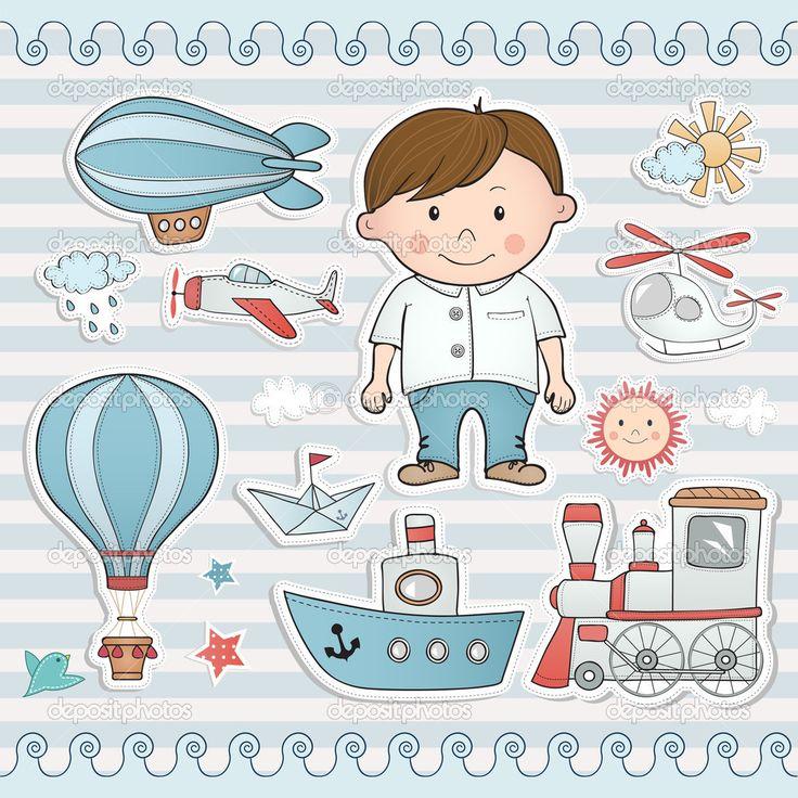 Праздник для маленького мальчика. - Векторная картинка: 36411917