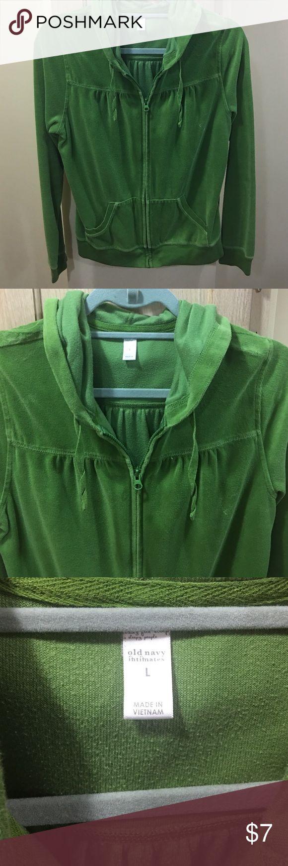 Old Navy - women's zip up Size large women's green zip up hoodie; excellent condition! Old Navy Tops Sweatshirts & Hoodies