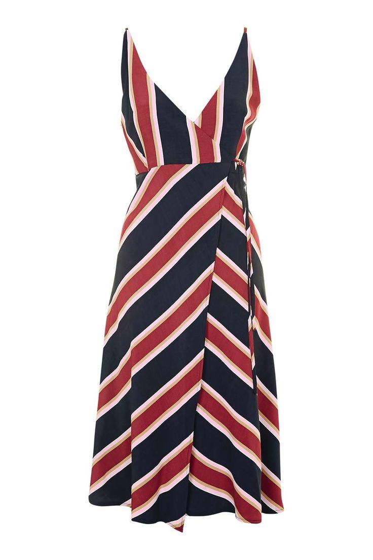 Stripe Wrap Slip Dress - New In This Week - New In - Topshop