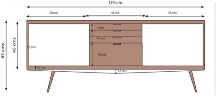 Medidas aparador bcn aparadores pinterest - Aparadores a medida ...
