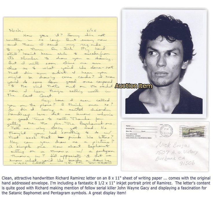 case analysis of richard ramirez Satanist richard ramirez was after the newspaper reported this week that a 'second suspect' had been tied to the case 'night stalker' richard ramirez was.