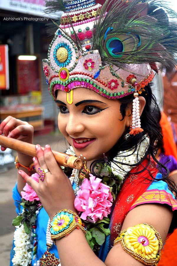Little Lord Krishna • inspired by krsna • child dressed as krsna krishna
