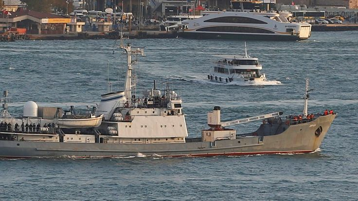 All 78 personnel aboard the Black Sea Fleet ship were rescued, the Turkish coastal authority says.