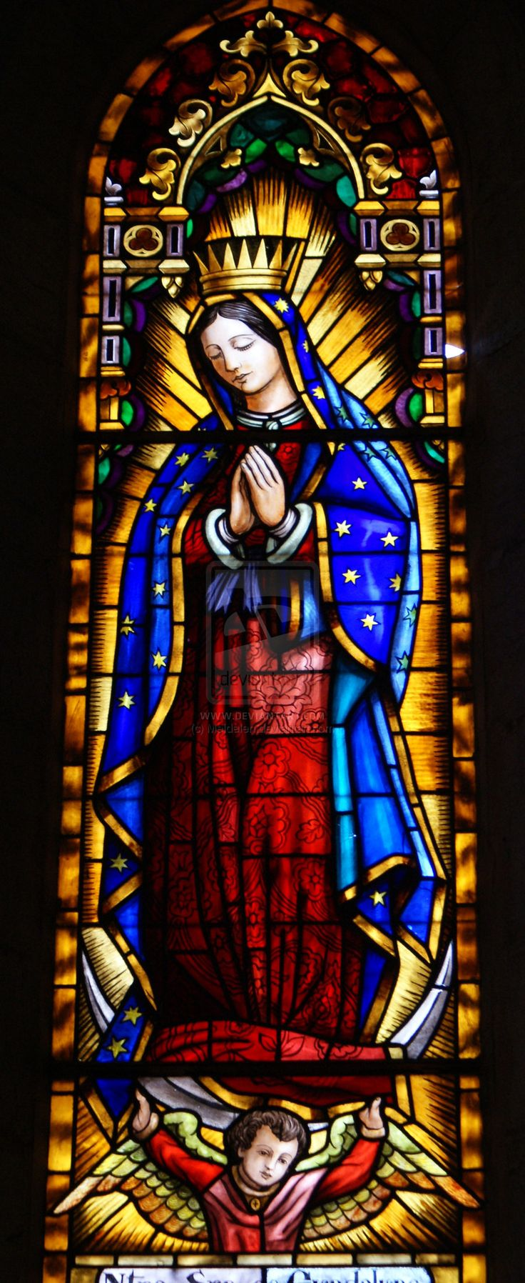 Virgen de Guadalupe by Meldelen. Barcelona, Spain. @Teresa Selberg Selberg Tomeo